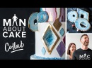The NEW Agate Geode Cake| Man About Cake COLLAB with Rachael Teufel Joshua John Russell