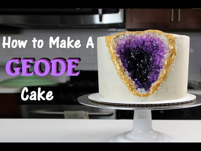 How to Make A Geode Cake | CHELSWEETS