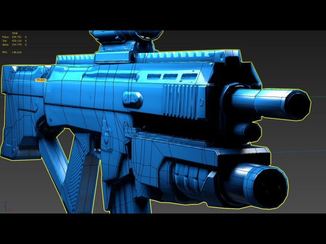 3DsMax Weapond retopology for videogames (Long vesrion)