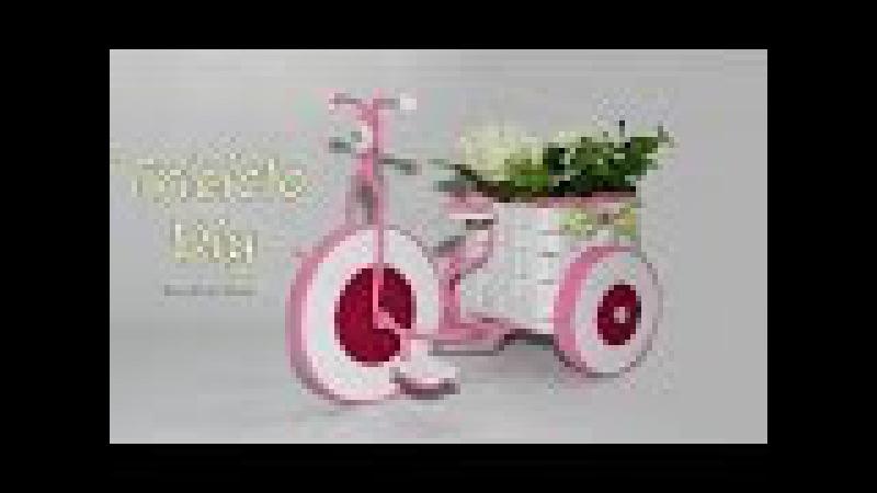 Triciclo de goma eva y alambre