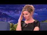 Elisha Cuthbert Stares Down Airplane Pudding Slurper - CONAN on TBS