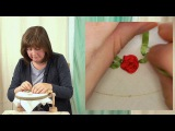 Hand Embroidery - Ribbon work woven roses