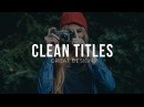 Design Clean Titles for Motion Graphics Video - After Effects Tutorial