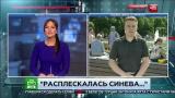 Журналисту в прямом эфире дали по лицу ВДВ расплескалась синева НТВ
