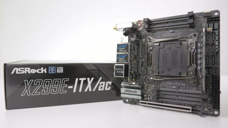 ASRock X299E-ITX/ac – единственная в мире плата на Intel X299 форм-фактора Mini-ITX