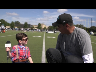 Kids club reporter: one-on-one with ron rivera  watch as the head coach sits down for an interview with our kids club reporter,