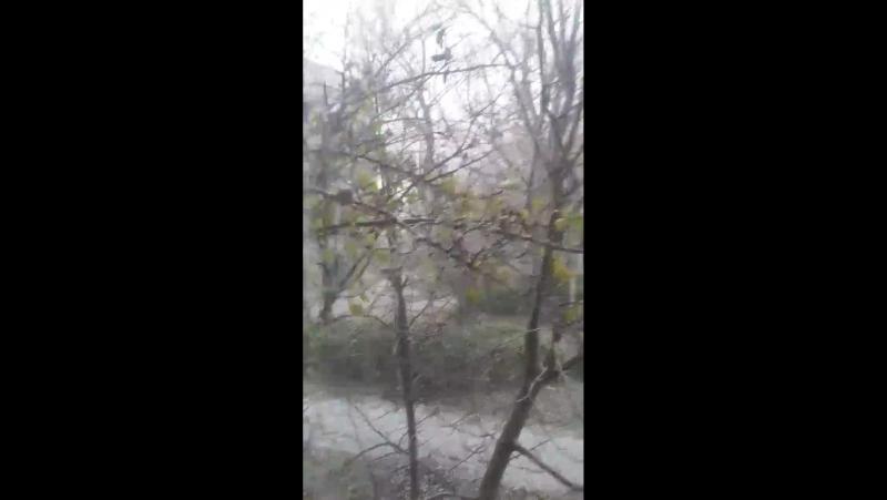Первый Снег 😮 ⛄ ❄ (21 .11.2017 год  город Окница 🌸💕