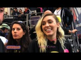 MILEY CYRUS Unedited! Back Stage! #WomensMarchLA 2017