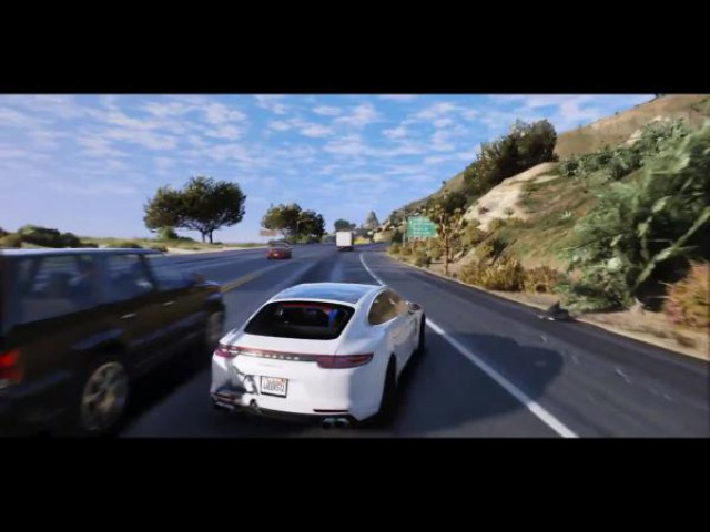 GTA 6 Graphics - Panamera Turbo! M.V.G.A. - Геймплей! 2017 Реалестичный графический мод 60FPS