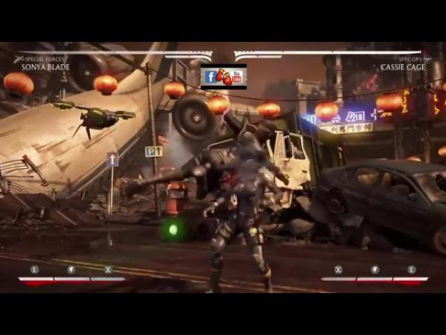 Все комбо Сони Блэйд в Mortal Kombat X
