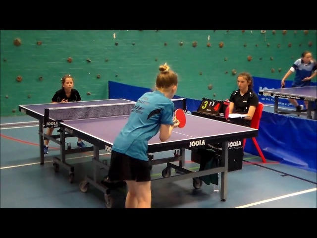 8 years old girl play table tennis