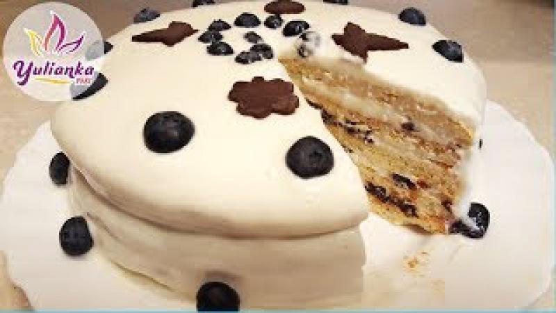 ТВОРОЖНЫЙ ТОРТ с черносливом. ПОЛЕЗНО и ВКУСНО! Curd cake with prunes