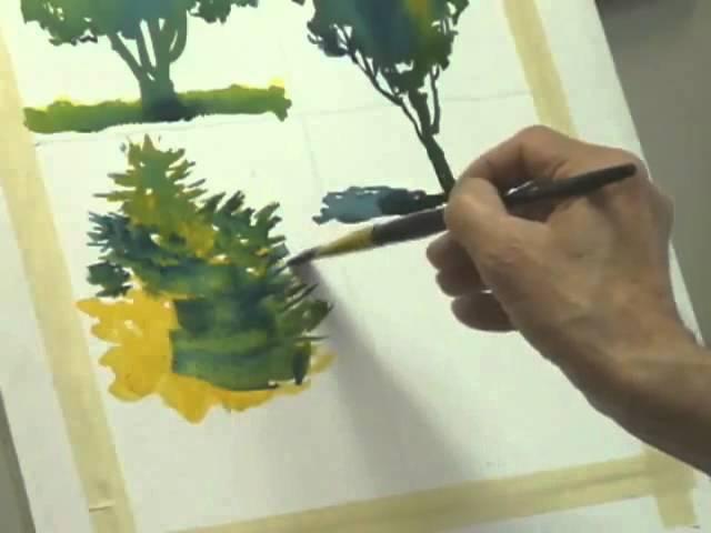 Методы рисования деревьев акварелью часть 3, Frank M. Costantino