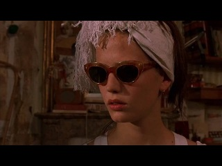 scene from The Dreamers (2003) - Isabel makes Theo pay the forfeit