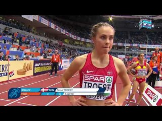 Легкая атлетика  Чемпионат Европы в помещении  Belgrade Serbia  800 м  Женщины