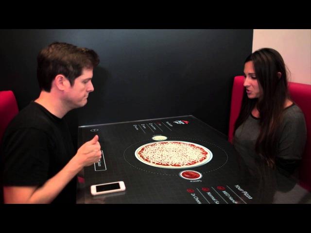 Pizza Hut Chaotic Moon Studios Interactive Concept Table
