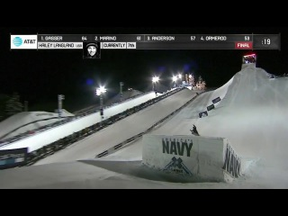 Hailey Langland, a 16 year old becomes the first woman to land a Cab Double Cork 1080 at the X Games.