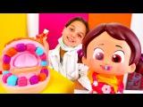 Geçmiş Olsun Hastanesi Dr Lara Niloya'ya renkli diş yapıyor 😃. #Doktoroyunu ve çocuk oyunları!