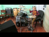 Ilya Varfolomeyev 8 years - Drum Cover - Kelly Clarkson - Stronger (What Doesn't Kill You)