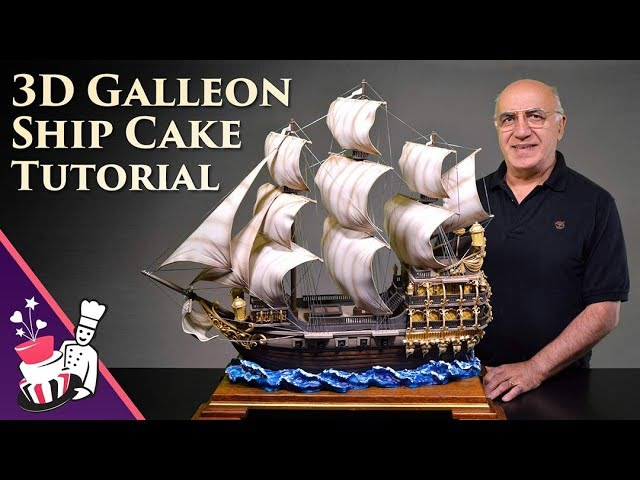 3D GalleonPirate Ship Cake Tutorial - Introduction and Sample