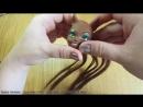 Как прошить волосы кукле Монстр хай. Прошивка в два цвета