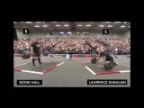 Laurence  Shahlaei vs Eddie Hall-350kg. Deadlift .  Britains Strongest Man 2017