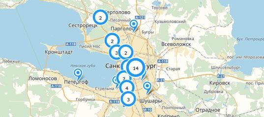 Карта веб-камер Санкт-Петербурга