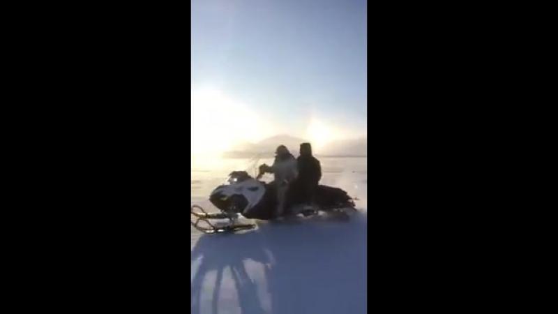 Михаил Эверстов опубликовал видео гонок на буране в Верхоянске
