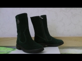 Видеообзор ПОЛУСАПОЖКИ F-012-9 т.зеленая замша