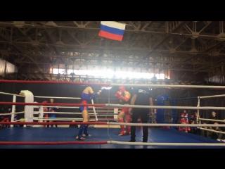 Степанов Тимур син. угол, финал чемпионата области по Тайскому боксу