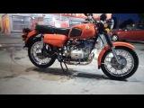 Мотоцикл (МТ) Днепр 11 соло (одиночка) поездка по городу (со звуком двигателя)