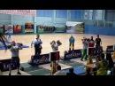 Подъем двух гирь по 50 кг. 1-е место Асланбек Сургуев(Чеченская республика) - 20 подъема