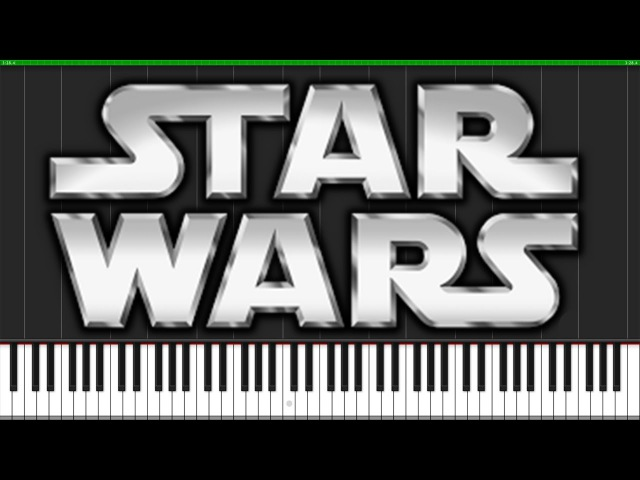 Binary Sunset (The Force Theme) - Star Wars [Piano Tutorial] (Synthesia) Fontenele NXT