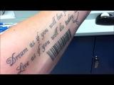 Подготовка СТАДА к нанесению начертания 666. QR Code tattoo и штрих код на руку и тело !!!