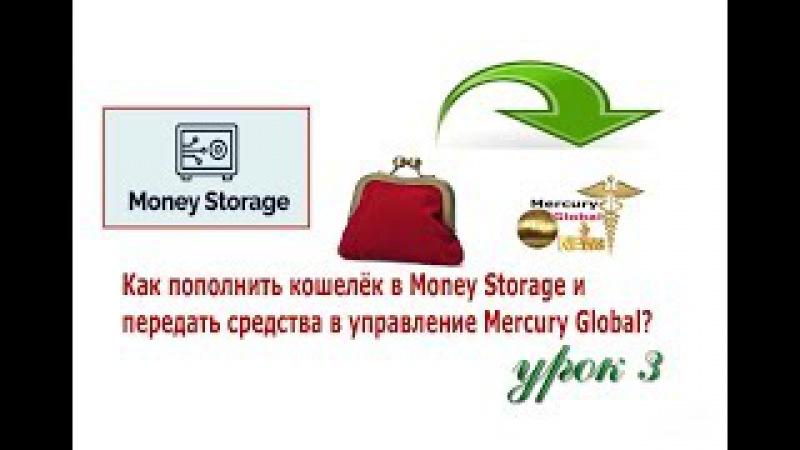 Урок 3. Как пополнить кошелёк Money Storage и передать средства в управление Mercury Global