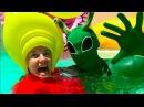 Bad Kids Pranks Daddy Пришелец в Бассейне Ящерица в еде Робот и Конфеты Пранки Alien in the pool