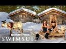 Bo Krsmanovic & Hailey Clauson Chase A Sexy Sasquatch, Take A Tumble   Sports Illustrated Swimsuit