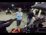 Sad but heartwarming A crying mother stops to talk to some bikers at a gas station because her son was in an accident.