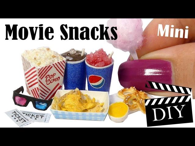 Cute Mini Movie Snack Tutorial DIY Popcorn, Cotton Candy, Icee More