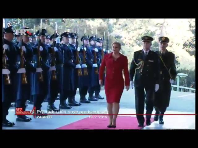 Prvi radni dan predsjednice Kolinde Grabar Kitarovic 19 2 2015