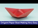How to make a Paper Boat - Creative Origami Tutorial on making boat using color paper