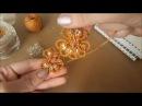 Серьги фриволите мастер класс Earrings tatting Needle tatting Occhi Frivolite
