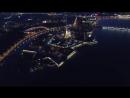 Ночной Санкт- Петербург с высоты птичьего полёта. Время наслаждаться тем, что мы живём в самом лучшем городе на Земле!