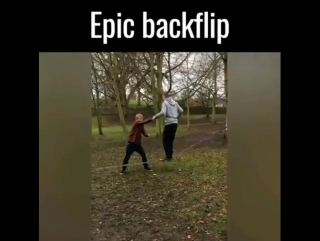 Epic backflip