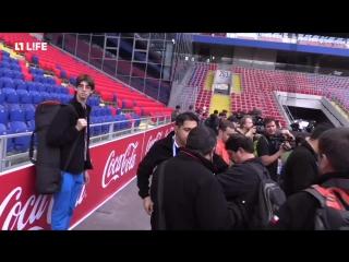Сборная Чили на поле ЦСКА