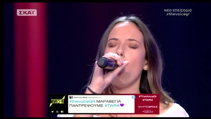 The Voice of Greece 4 - Blind Audition - SOMETHINGS GOT A HOLD ON ME - Anthi Kariofyli