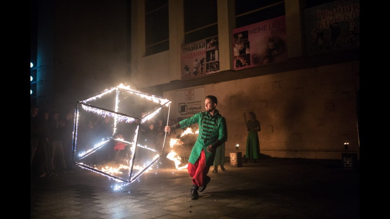День міста Ужгород 2017 - фаєр шоу від Fire Life