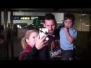 Тьяго Месси встречает папу в аэропорту