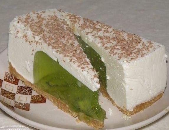 Желейный торт из киви и сметаны Хочу поделиться