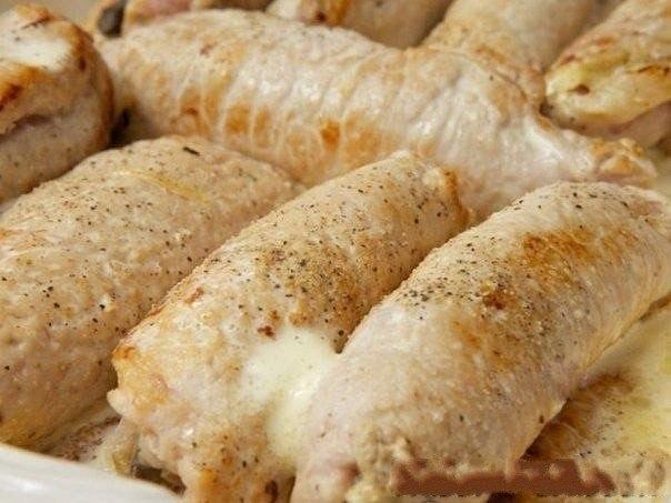 Рулетики мясные к праздничному столу Ингредиенты: -Свиное филе -